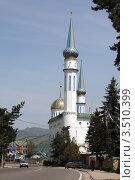 Купить «Мечеть в Карачаевске», эксклюзивное фото № 3510399, снято 4 мая 2012 г. (c) Игорь Веснинов / Фотобанк Лори