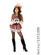 Купить «Девушка в костюме пирата», фото № 3513099, снято 28 ноября 2010 г. (c) Сергей Сухоруков / Фотобанк Лори