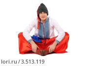 Купить «Мужчина в украинской национальной одежде. Белый фон», фото № 3513119, снято 28 ноября 2010 г. (c) Сергей Сухоруков / Фотобанк Лори