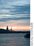 Купить «Белая ночь над Невой. Санкт-Петербург.», фото № 3515639, снято 27 июня 2009 г. (c) Светлана Кудрина / Фотобанк Лори