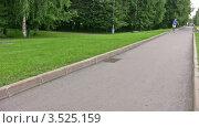 Купить «Роллер едет по дорожке в парке», видеоролик № 3525159, снято 1 сентября 2008 г. (c) Losevsky Pavel / Фотобанк Лори