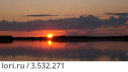 Купить «Чукотка, река Анадырь на закате», фото № 3532271, снято 7 августа 2005 г. (c) Наталья Спиридонова / Фотобанк Лори