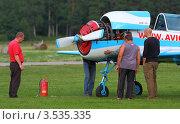 Купить «Ремонт самолета», фото № 3535335, снято 11 августа 2011 г. (c) Пьянков Александр / Фотобанк Лори