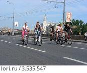 Купить «Москва, 20 мая. Велопарад Let's bike it!», эксклюзивное фото № 3535547, снято 20 мая 2012 г. (c) lana1501 / Фотобанк Лори