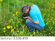 Купить «Фотограф за работой», эксклюзивное фото № 3536419, снято 20 мая 2012 г. (c) Елена Коромыслова / Фотобанк Лори