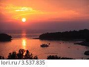 Хорватия. Ночной морской пейзаж. Стоковое фото, фотограф Вячеслав Аверин / Фотобанк Лори