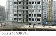 Купить «Строительство здания, таймлапс», видеоролик № 3538743, снято 22 марта 2009 г. (c) Losevsky Pavel / Фотобанк Лори