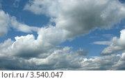 Купить «Кучевые облака, таймлапс», видеоролик № 3540047, снято 12 августа 2009 г. (c) Losevsky Pavel / Фотобанк Лори