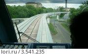 Купить «Монорельсовая дорога, таймлапс», видеоролик № 3541235, снято 16 августа 2009 г. (c) Losevsky Pavel / Фотобанк Лори