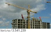Купить «Строительство дома, таймлапс», видеоролик № 3541239, снято 16 августа 2009 г. (c) Losevsky Pavel / Фотобанк Лори