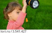 Купить «Девочка с фонариком в парке», видеоролик № 3541427, снято 24 сентября 2009 г. (c) Losevsky Pavel / Фотобанк Лори