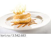 Купить «Аппетитный сливочный десерт с карамелью», фото № 3542683, снято 17 апреля 2012 г. (c) CandyBox Images / Фотобанк Лори
