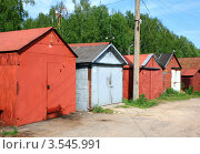 Купить «Гаражи», эксклюзивное фото № 3545991, снято 20 мая 2012 г. (c) АЛЕКСАНДР МИХЕИЧЕВ / Фотобанк Лори