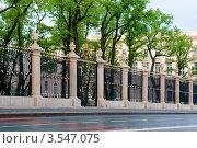 Купить «Решетка Летнего сада. Раннее утро. Санкт-Петербург», эксклюзивное фото № 3547075, снято 22 мая 2012 г. (c) Александр Щепин / Фотобанк Лори