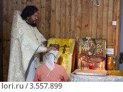Купить «Воскресная литургия в храме», эксклюзивное фото № 3557899, снято 27 мая 2012 г. (c) Дмитрий Неумоин / Фотобанк Лори