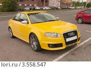 Купить «Ауди RS4 желтого цвета», фото № 3558547, снято 31 мая 2012 г. (c) Зобков Георгий / Фотобанк Лори