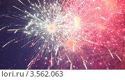 Купить «Яркий праздничный фейерверк», видеоролик № 3562063, снято 12 декабря 2009 г. (c) Losevsky Pavel / Фотобанк Лори