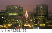 Купить «Ночной трафик вдоль небоскребов Парижа, Франция, таймлапс», видеоролик № 3562135, снято 8 января 2010 г. (c) Losevsky Pavel / Фотобанк Лори