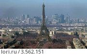 Купить «Вид на центр Парижа, таймлапс», видеоролик № 3562151, снято 9 января 2010 г. (c) Losevsky Pavel / Фотобанк Лори