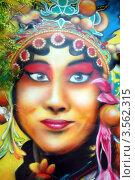 Купить «Индианка. Граффити в Мелаке, Малайзия», фото № 3562315, снято 7 апреля 2012 г. (c) Светлана Колобова / Фотобанк Лори