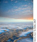Вид сверху на лесотундру зимой. Стоковое фото, фотограф Владимир Мельников / Фотобанк Лори