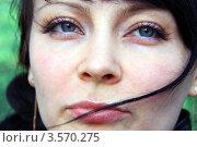 Девушка с морщинками на обветренном лице. Стоковое фото, фотограф Ольга Алиева / Фотобанк Лори