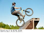 Купить «Слоуп-стайл. Тренировка прыжков», эксклюзивное фото № 3573331, снято 27 мая 2012 г. (c) Ольга Визави / Фотобанк Лори