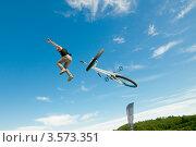 Купить «Слоуп-стайл. Тренировка прыжков», эксклюзивное фото № 3573351, снято 27 мая 2012 г. (c) Ольга Визави / Фотобанк Лори