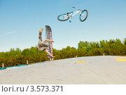 Купить «Слоуп-стайл. Тренировка прыжков», эксклюзивное фото № 3573371, снято 27 мая 2012 г. (c) Ольга Визави / Фотобанк Лори