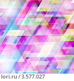 Абстрактный фон с цветными треугольниками. Стоковая иллюстрация, иллюстратор Михаил Моросин / Фотобанк Лори