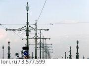 Столбы на троицком мосту. Санкт-Петербург (2012 год). Стоковое фото, фотограф Александр Щепин / Фотобанк Лори