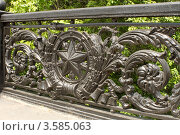 Купить «Чугунная ограда моста на шоссе Энтузиастов», фото № 3585063, снято 27 мая 2012 г. (c) Александр Демин / Фотобанк Лори