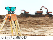 Купить «Геодезический инструмент нивелир на стройплощадке», фото № 3588643, снято 22 мая 2012 г. (c) Дмитрий Калиновский / Фотобанк Лори