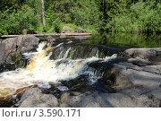 Купить «Рускеальский водопад», фото № 3590171, снято 19 июля 2011 г. (c) Андрей Жухевич / Фотобанк Лори