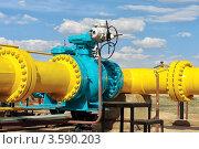 Купить «Шаровой клапан газопровода», фото № 3590203, снято 13 мая 2012 г. (c) Александр Малышев / Фотобанк Лори
