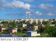 Купить «Вид на город Добрянка. Пермский край», фото № 3590267, снято 11 июня 2012 г. (c) Андрей Щекалев (AndreyPS) / Фотобанк Лори