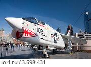 Купить «Самолёт-истребитель Vought F-8K Crusader», фото № 3598431, снято 19 мая 2012 г. (c) SummeRain / Фотобанк Лори