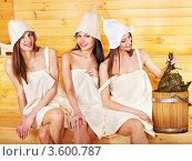 Купить «Девушки в сауне», фото № 3600787, снято 14 апреля 2012 г. (c) Gennadiy Poznyakov / Фотобанк Лори