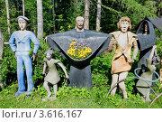 """Купить «Парк скульптур """"Мистический лес"""". Финляндия», эксклюзивное фото № 3616167, снято 23 июня 2012 г. (c) Александр Щепин / Фотобанк Лори"""