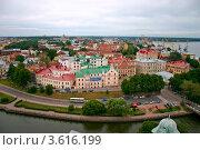 Купить «Панорама Выборга», фото № 3616199, снято 24 августа 2010 г. (c) Оксана Дудкина / Фотобанк Лори