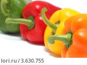 Купить «Болгарский перец (изолировано на белом фоне)», фото № 3630755, снято 22 сентября 2011 г. (c) Самохвалов Артем / Фотобанк Лори