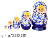 Купить «Набор из пяти матрешек», фото № 3633635, снято 13 апреля 2011 г. (c) Losevsky Pavel / Фотобанк Лори
