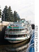 Купить «Канал имени Москвы. Шлюз №1.», фото № 3637023, снято 17 августа 2011 г. (c) Алексей Шипов / Фотобанк Лори