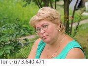Купить «Женщина средних лет», эксклюзивное фото № 3640471, снято 2 июля 2012 г. (c) Юрий Морозов / Фотобанк Лори