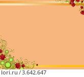 Узор розы. Стоковая иллюстрация, иллюстратор Поздеева Наталья / Фотобанк Лори