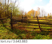 Старая ограда. Стоковое фото, фотограф Цыганков Григорий Николаевич / Фотобанк Лори