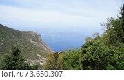 Вид на Эгейское море от Монастыря Св. Пантейлемона. Стоковое фото, фотограф Андрей Носов / Фотобанк Лори