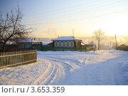 Уральская деревня Тирлян зимой. Стоковое фото, фотограф BoLinar / Фотобанк Лори