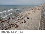 Купить «Зеленоградск. Пляж», эксклюзивное фото № 3654163, снято 8 июля 2012 г. (c) Svet / Фотобанк Лори