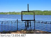 Купить «Город Плес, часть скульптурной композиции - мольберт», фото № 3654487, снято 17 мая 2012 г. (c) ElenArt / Фотобанк Лори